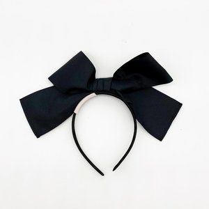VERONICA SHEAFFER Black Bow Headband